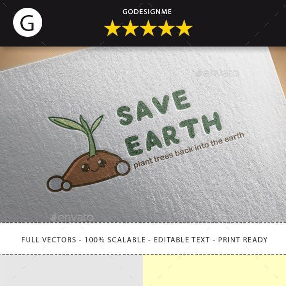 Save Earth Logo Design
