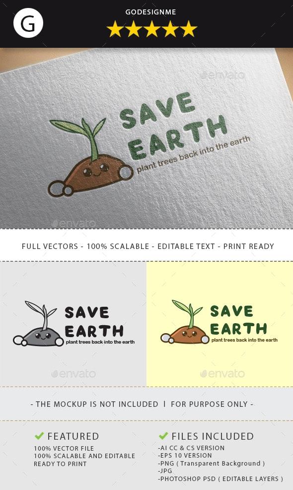 Save Earth Logo Design - Vector Abstract
