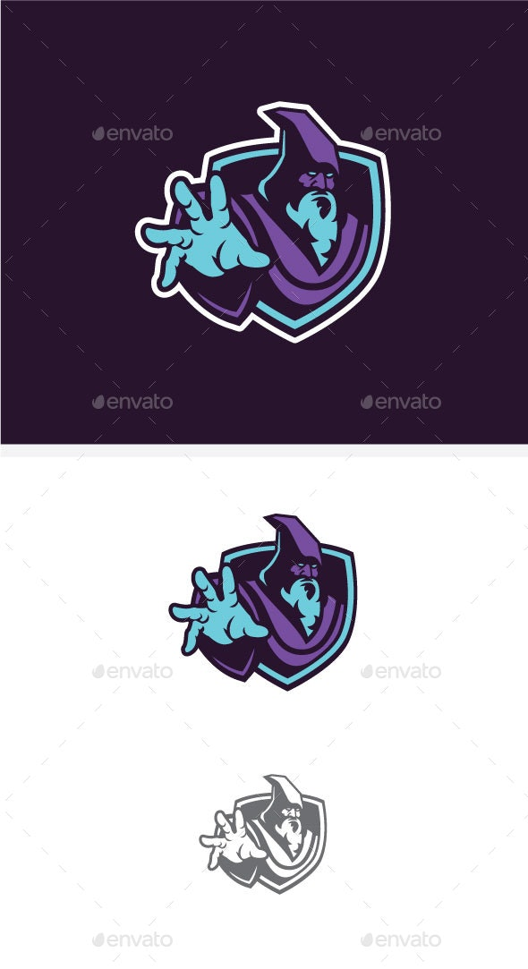 Wizard Team Sports Logo - Miscellaneous Characters