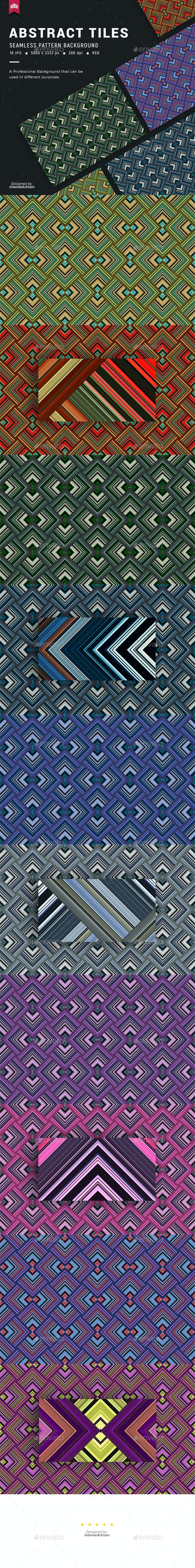 Abstract Tiles Seamless Pattern Background - Patterns Backgrounds