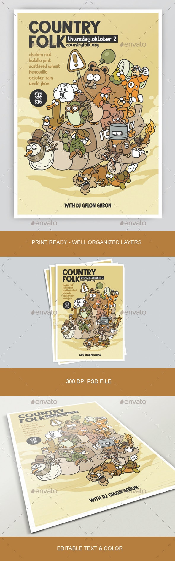 Country Folk Poster - Concerts Events