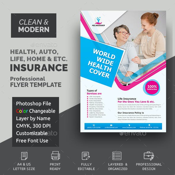Health Care Insurance Flyer