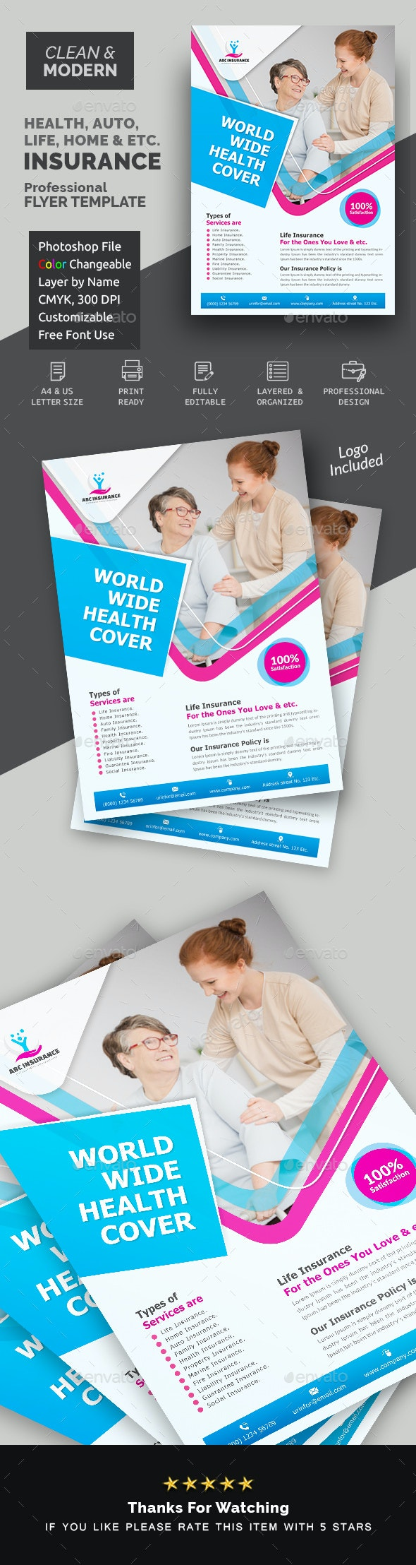 Health Care Insurance Flyer - Corporate Flyers
