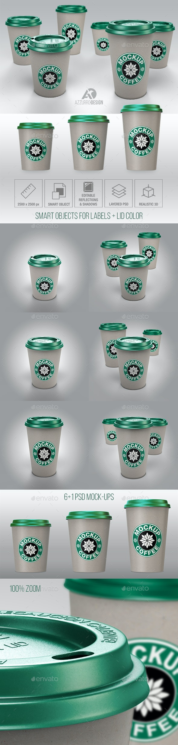 Paper Coffee Cup Mock-up - Food and Drink Packaging