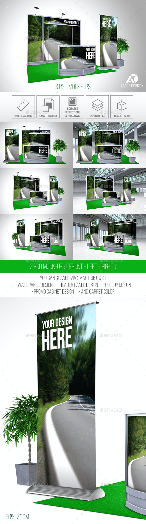 Exhibition Stand Mock-up (P5) - Signage Print