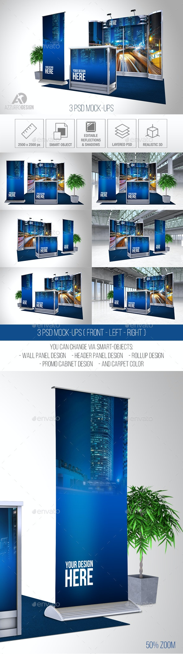 Exhibition Stand Mock-up (P6) - Signage Print