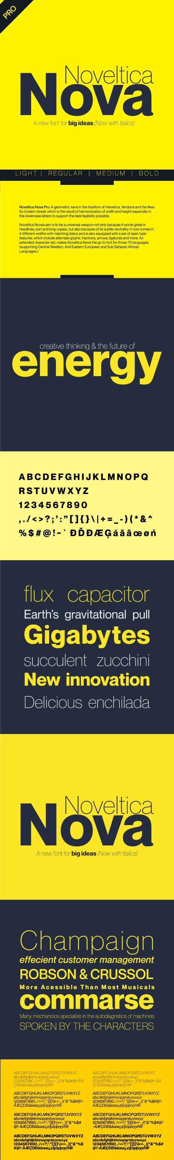 Noveltica Nova Pro Font - Miscellaneous Sans-Serif
