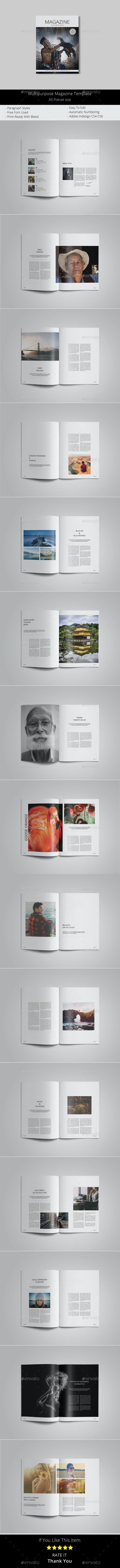 A5 Multipurpose Magazine Template - Magazines Print Templates