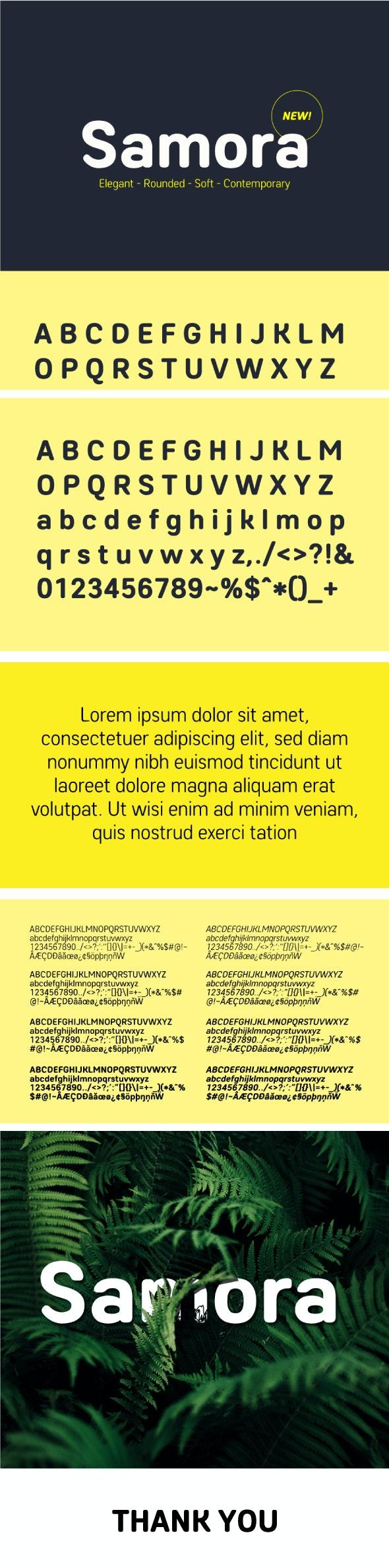 Samora Rounded Font - Miscellaneous Sans-Serif