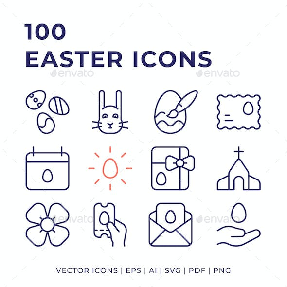 100 Easter Icons