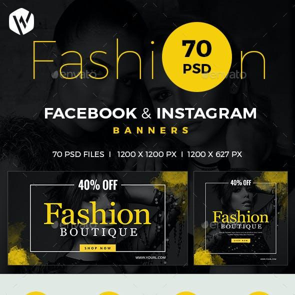 Facebook & Instagram Fashion Banners