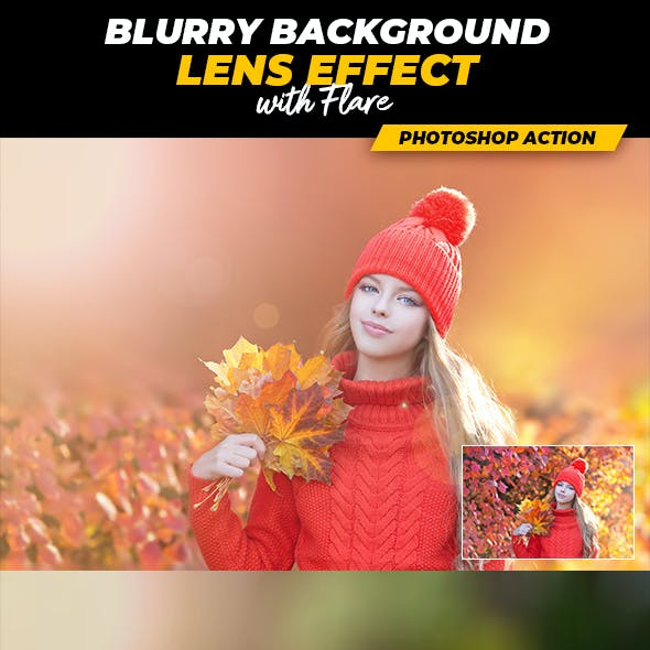 Blurry Background Lens Effect with Flare - Photoshop Action