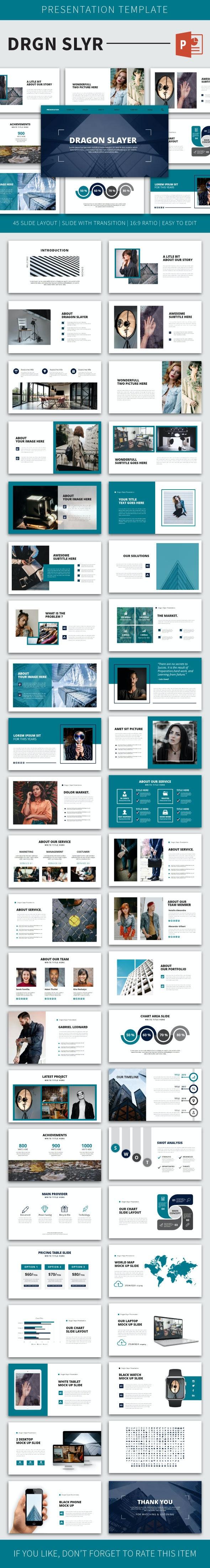 Drgnslyr PowerPoint Temp - Business PowerPoint Templates
