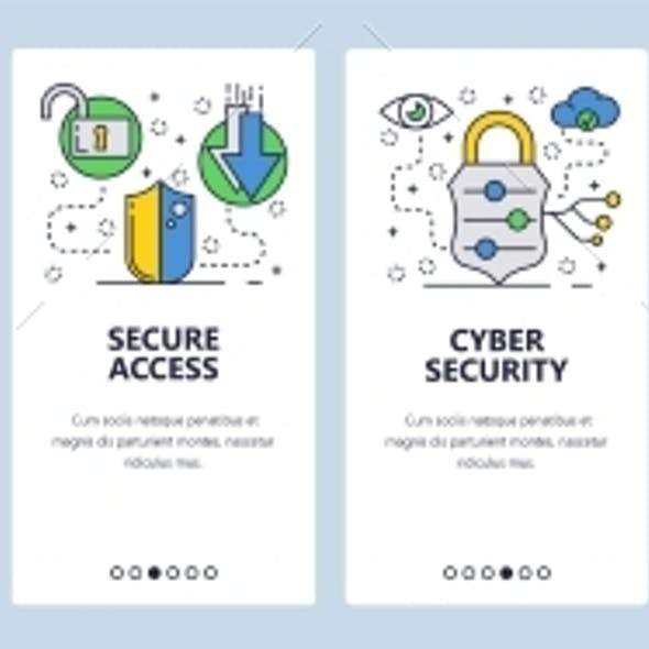 Web Site Onboarding Screens Cyber Security