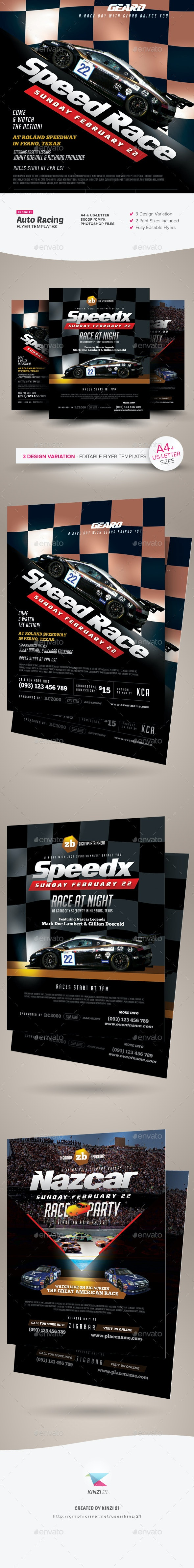 Auto Racing Flyer Templates - Sports Events