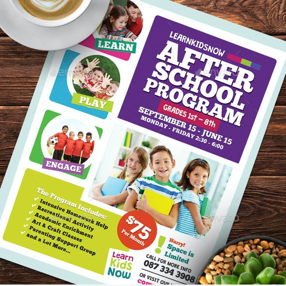 After School Program Flyer Templates