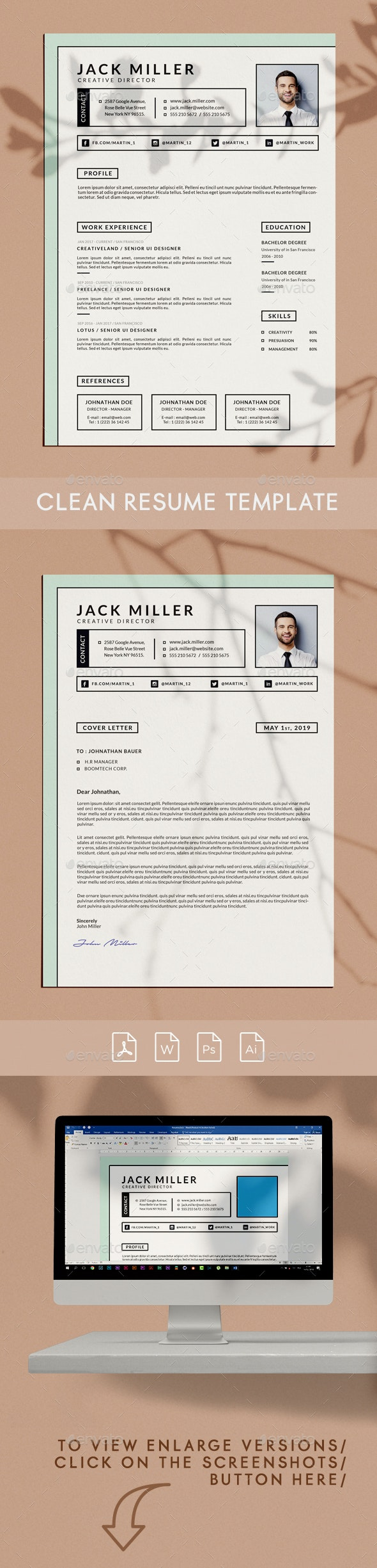 Boldy Resume Template - Resumes Stationery