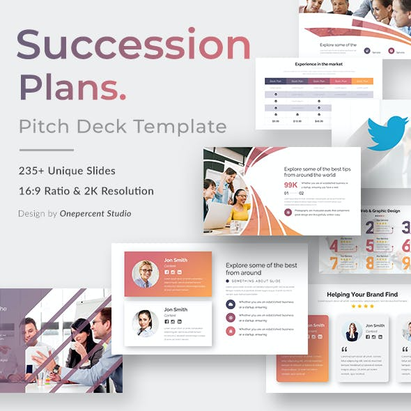 Succession Plan Pitch Deck Keynote Template