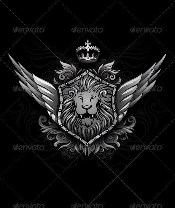 Winged Lion Insignia 2 - Animals Characters