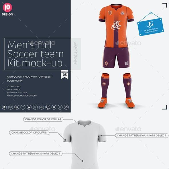 Men's Full Soccer Team Kit Mockup V5