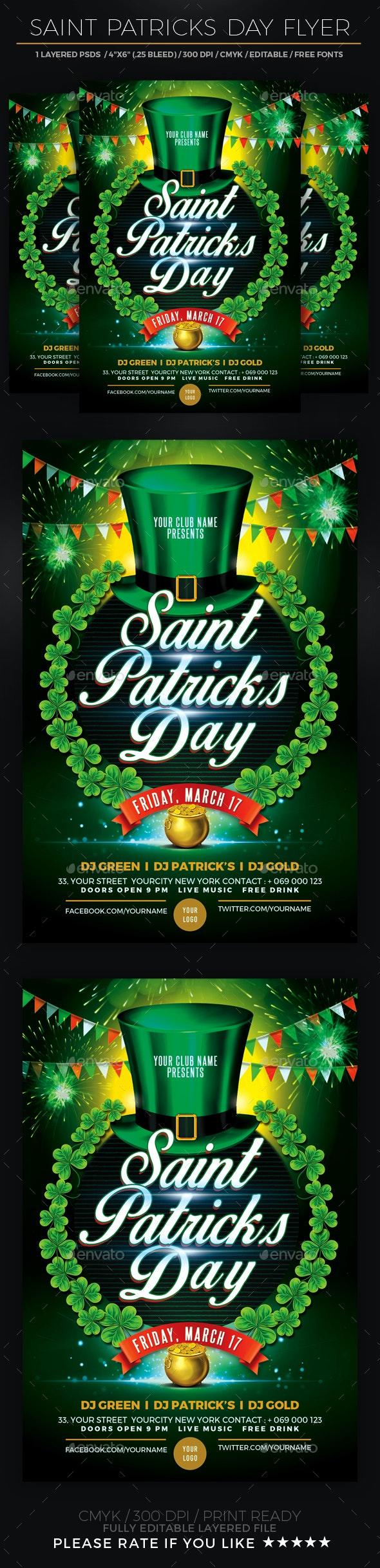 St. Patricks Day Flyer - Events Flyers