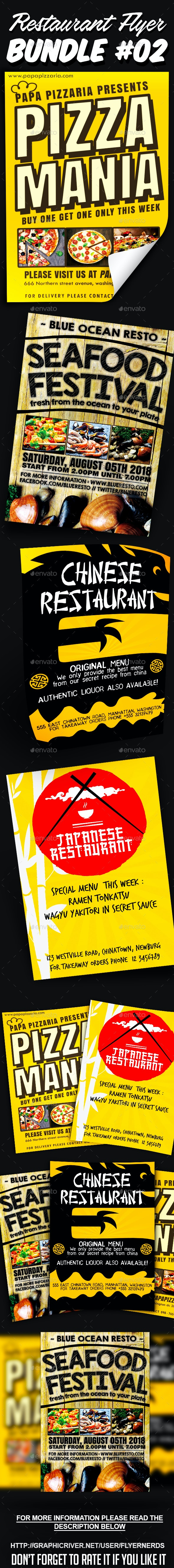 Restaurant Flyer Bundle 02 - Restaurant Flyers