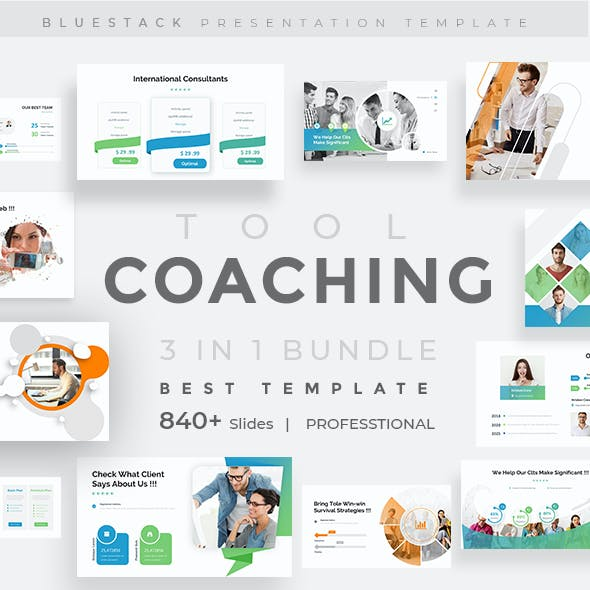 Coaching Tool 3 in 1 Pitch Deck Bundle Powerpoint Template