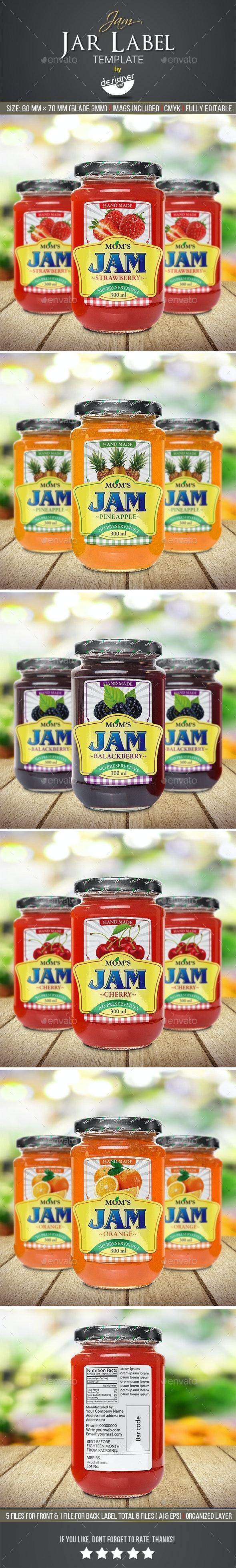 Jam Jar Label Template - Packaging Print Templates