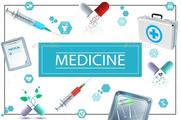 Realistic Medicine Concept - Health/Medicine Conceptual