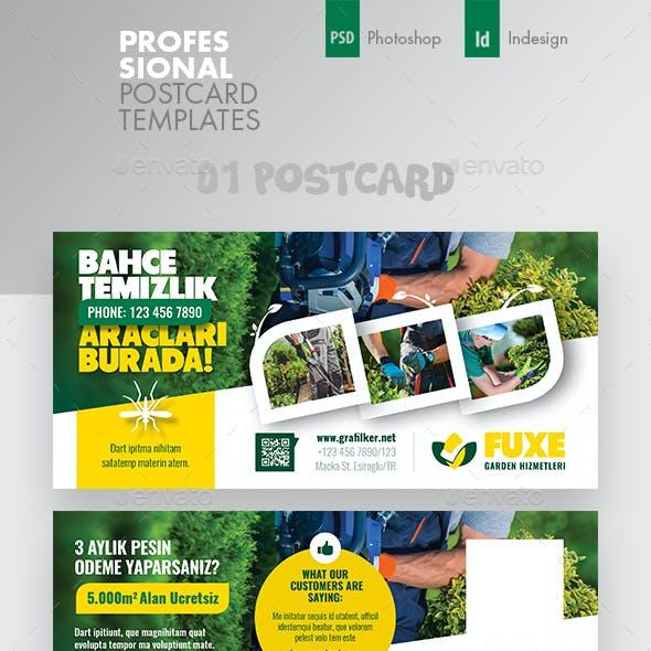 Garden Landspace Postcard Bundle Templates