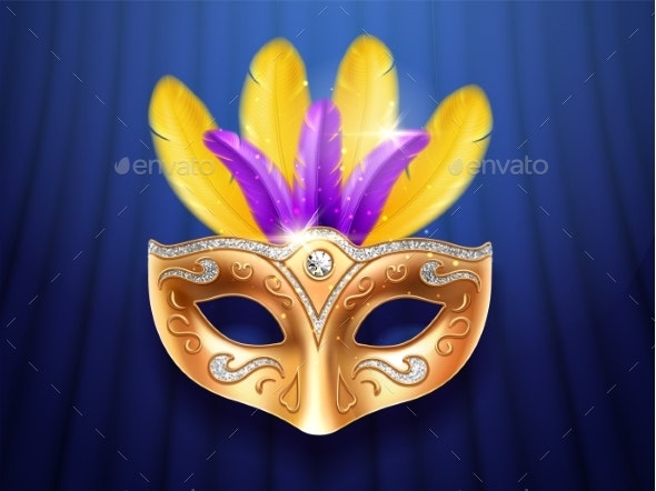 Colorful Feather Masquerade Carnival Mask - Miscellaneous Seasons/Holidays