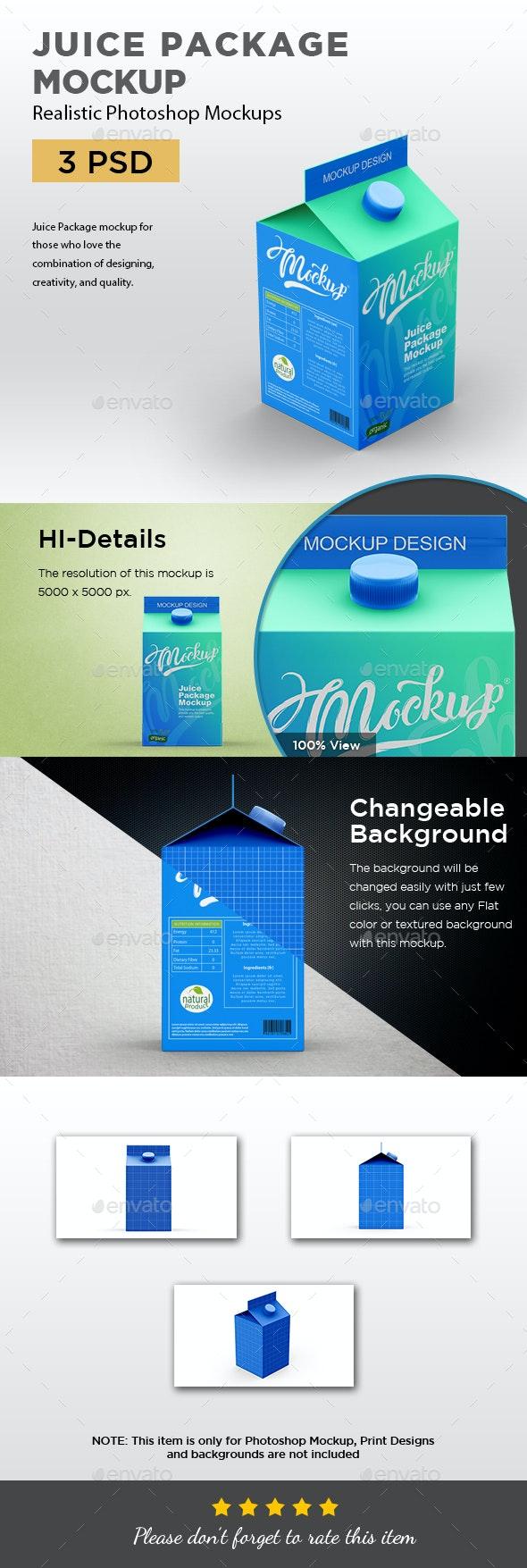 Juice Package Mockup - Food and Drink Packaging