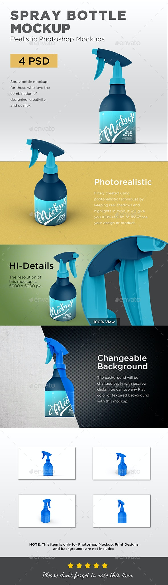 Plastic Spray Bottle Mockup - Product Mock-Ups Graphics