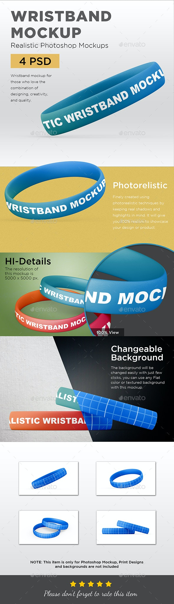 Rubber Wristband Mockup - Miscellaneous Apparel