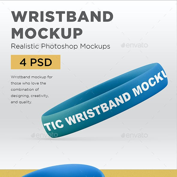 Rubber Wristband Mockup