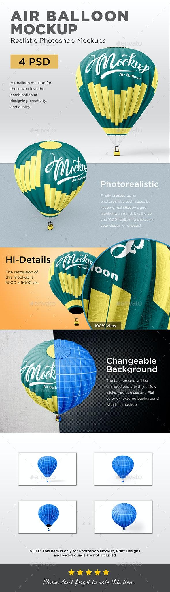Hot Air Balloon Mockup - Print Product Mock-Ups