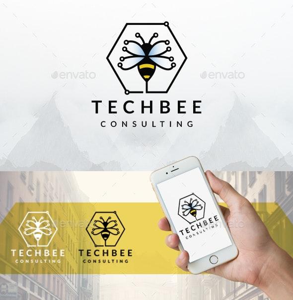 Tech Bee Hive Logo - Animals Logo Templates