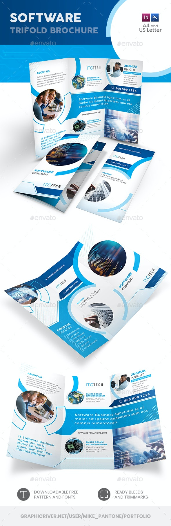 Software Trifold Brochure 10 - Informational Brochures