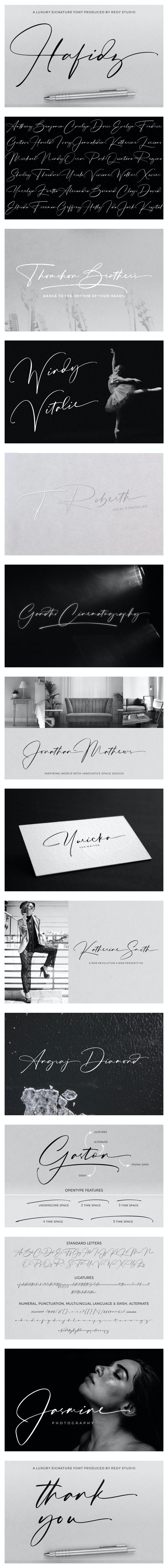 Hafidz | Luxury Signature Font - Script Fonts