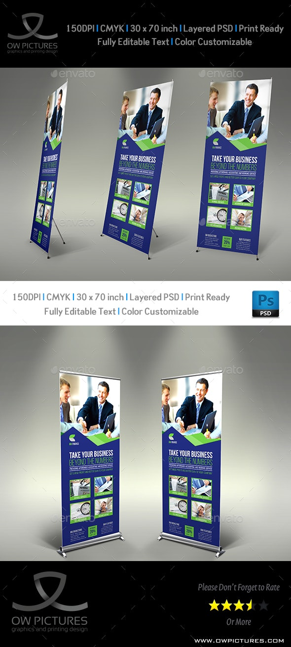Accounting Firm Signage Banner Roll Up Template - Signage Print Templates