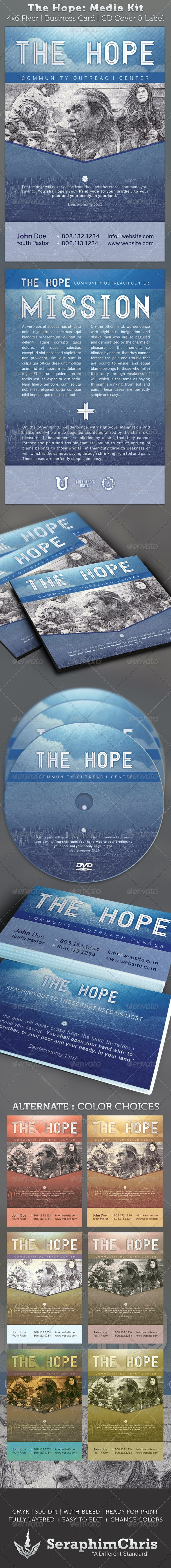 The Hope Church Charity - Media Kit Package - Church Flyers