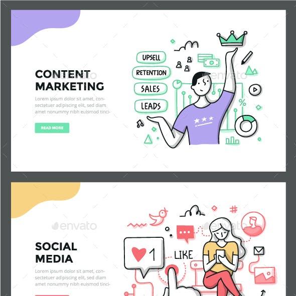 Marketing Color Line Concepts