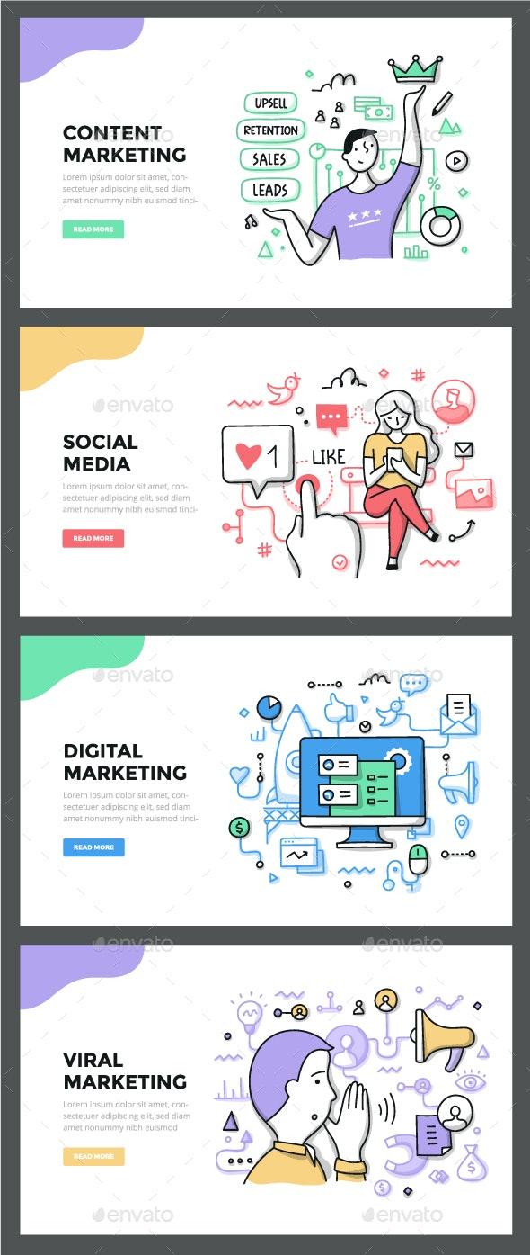 Marketing Color Line Concepts - Concepts Business