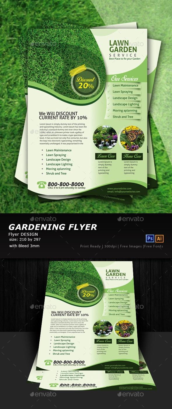 Lawn & Garden Services - Flyers Print Templates