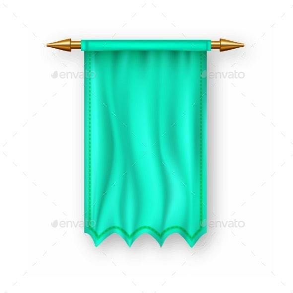 Green Pennant Flag Vector - Miscellaneous Vectors