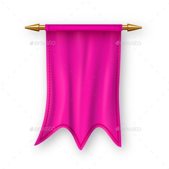 Pink Pennant Flag Vector - Miscellaneous Vectors