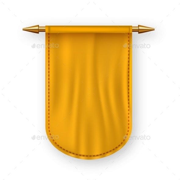 Orange Pennant Flag Vector - Miscellaneous Vectors