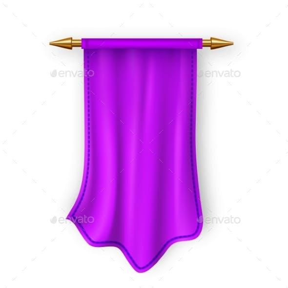 Violet Pennant Flag Vector