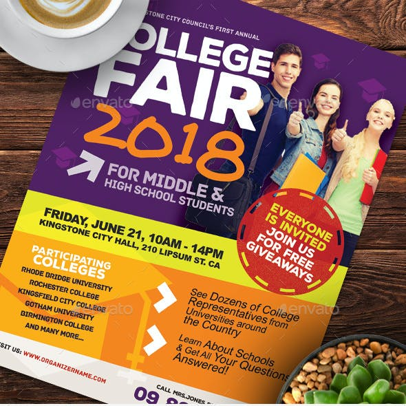 College Fair Flyer Templates