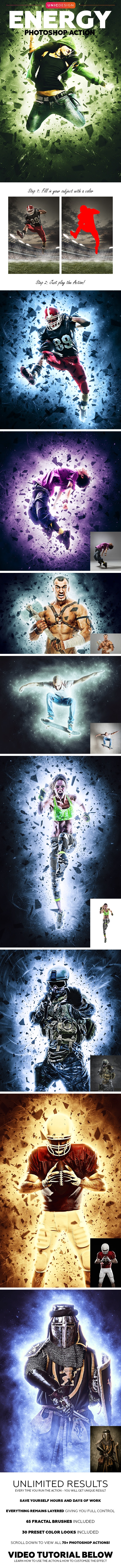 Energy Photoshop Action - Photo Effects Actions